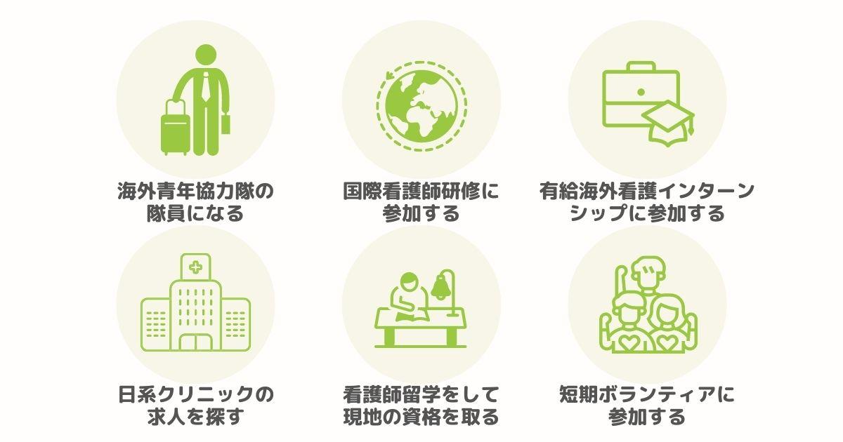 看護師資格で海外で働く方法