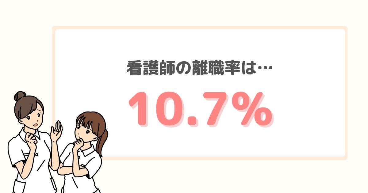 看護師の離職率